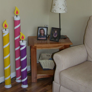 Giant Birthday Candles – Fun Birthday Party Decoration