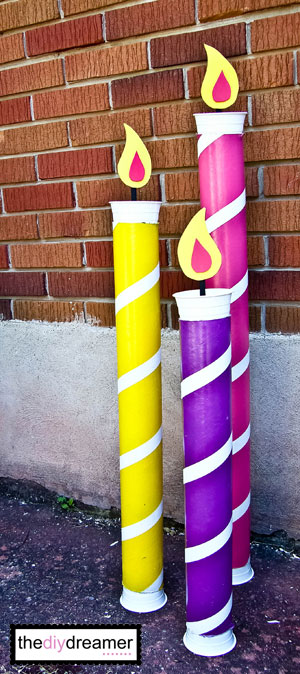 Giant Birthday Candles - Fun Birthday Party Decoration