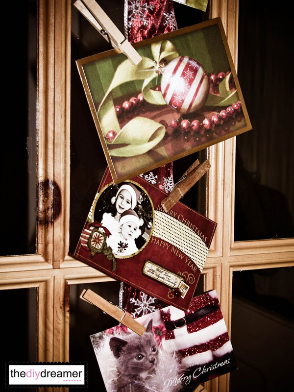 Ribbon Christmas Card Holder!!!