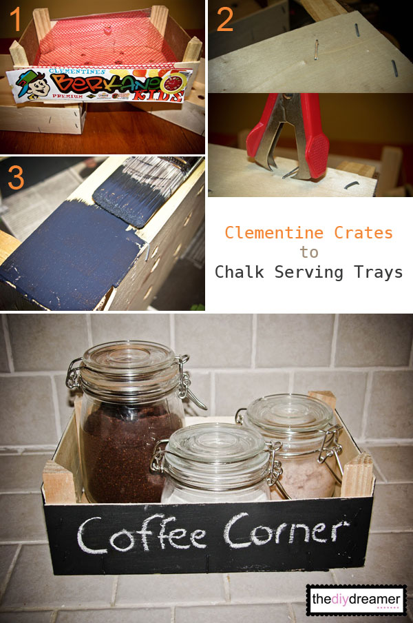 Wooden Clementine Crates to Chalk Serving Trays