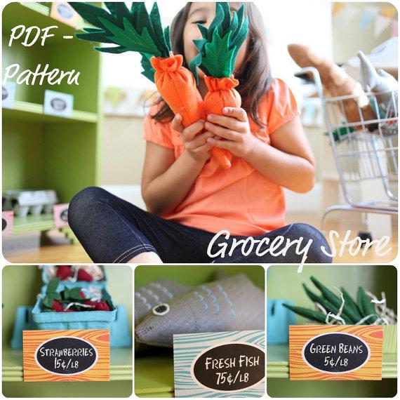 Grocery Story DIY Felt Food - Sewing Pattern