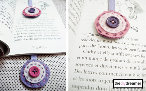 Felt Ribbon Bookmark