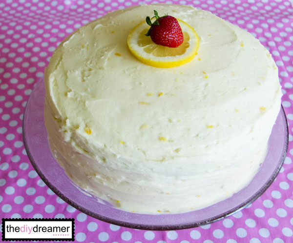 Strawberry Cake Lemon Buttercream Icing