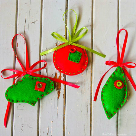 Felt christmas ornaments easy tutorial solutioingenieria Gallery