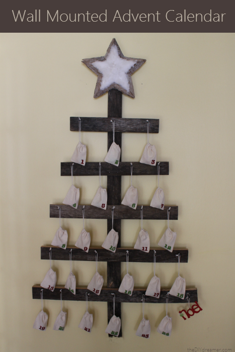 Wall Mounted Advent Calendar - Tutorial
