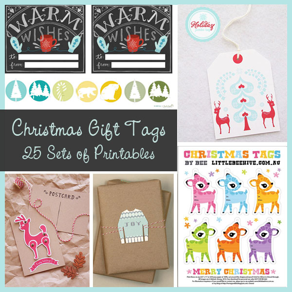 Christmas Gift Tags – 25 Sets of Printables!!!