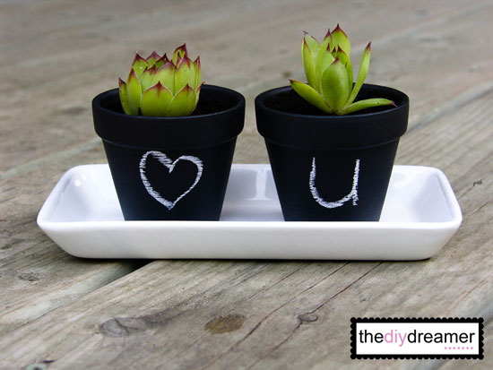 Mini Chalk Pots