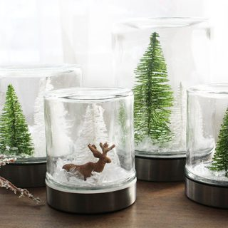 Waterless Snow Globes. Learn how to make snow globes without the mess.