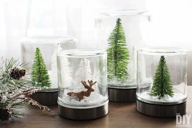 Christmas In Evergreen Snow Globe.Waterless Snow Globes Quick And Easy Christmas Craft