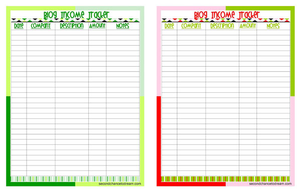 image relating to Income Tracker Printable known as sales tracker printable -