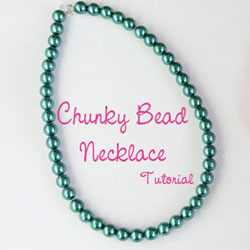 Chunky Bead Necklace Tutorial
