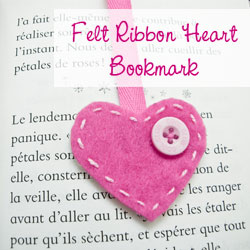 Bookmark Felt Heart – How to make a bookmark