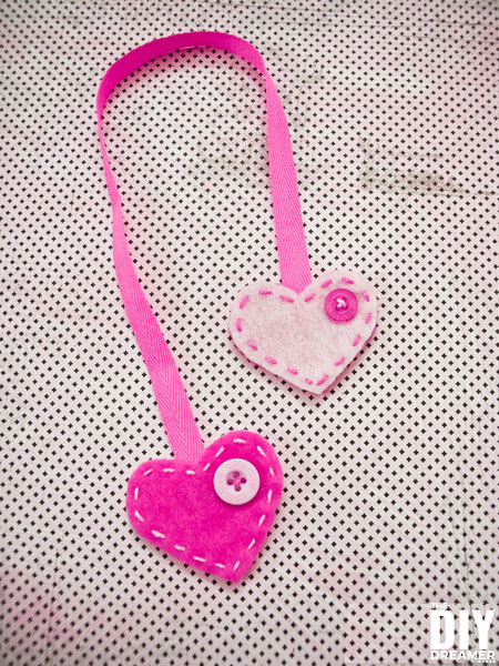 DIY Heart Felt Bookmark perfect for Valentine's Day.