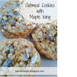 Oatmeal Cookies with Maple Icing!!!