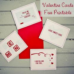 Valentine Cards { Free Printable }
