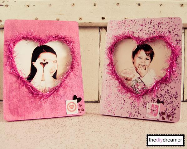 Valentine Glitter Photo Frame