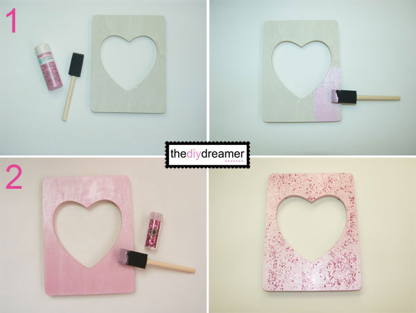 valentine glitter photo frame