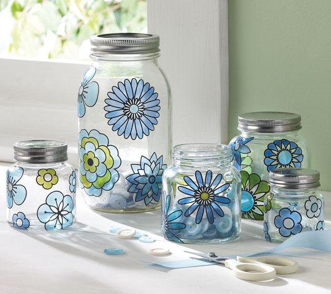 Martha Stewart Modern Blossoms Jars