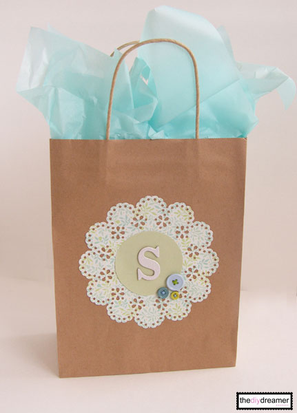 Craft Paper Personalized Gift Bag The D I Y Dreamer
