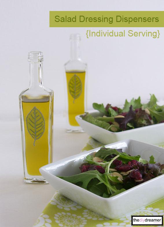 DIY Salad Dressing Dispensers! Individual serving.