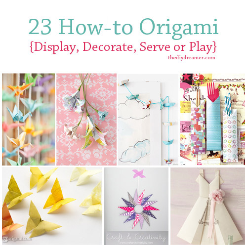 23 Tutorials On How to Origami The DIY Dreamer