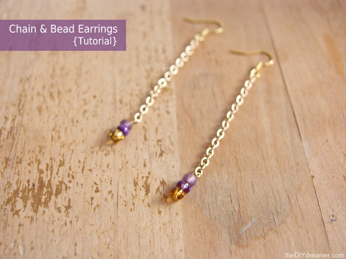 Chain Bead Earrings Tutorial