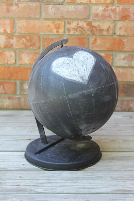 DIY Chalkboard Globe