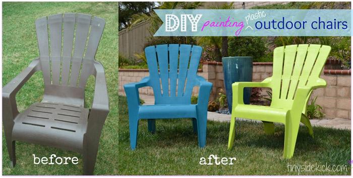 Paint Plastic Chairs