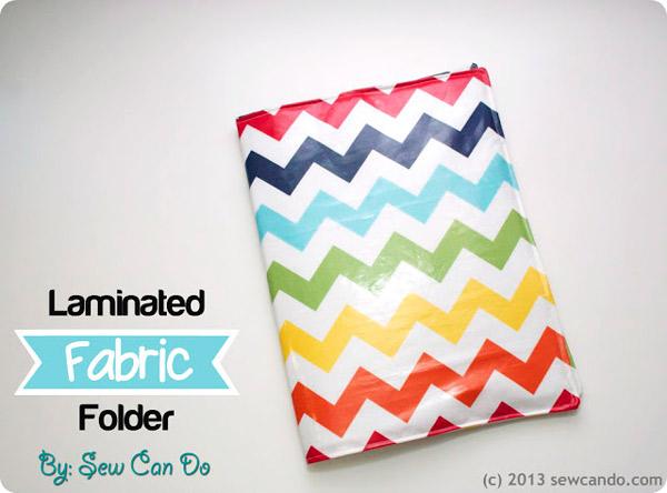 Laminated Fabric Folder