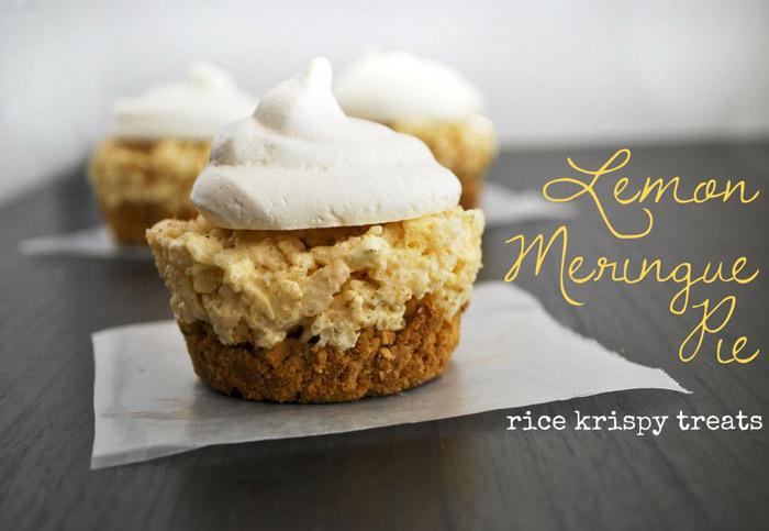 Lemon Meringue Pie Rice Krispy Treats