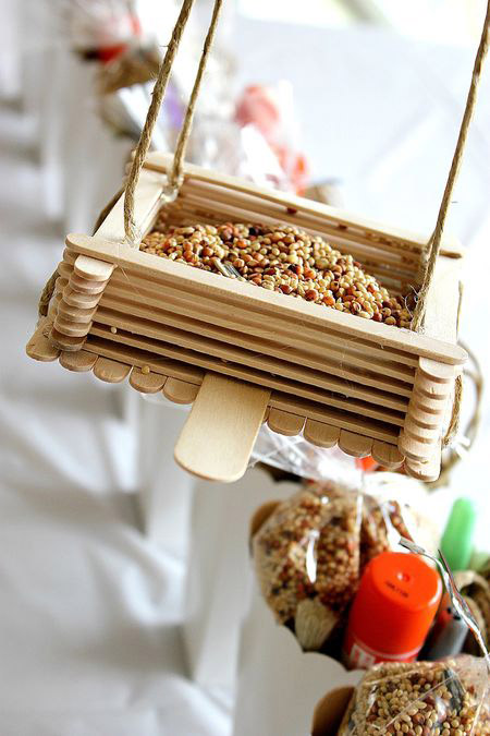 Popsicle Stick Bird-Feeder
