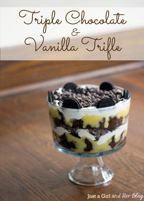 Triple Chocolate & Vanilla Trifle