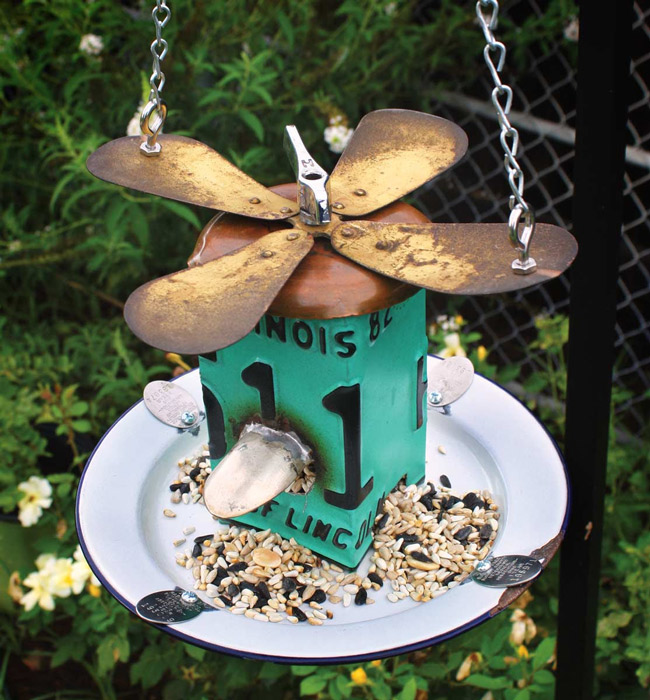 20 unique bird feeders lots of beautiful bird feeders for Upcycled bird feeder