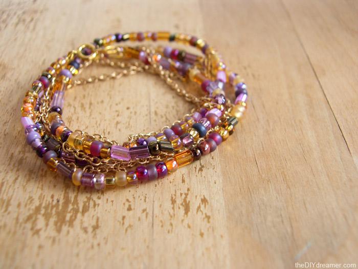 Wrap Chain Bead Bracelet