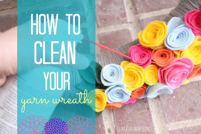 How to clean wreath