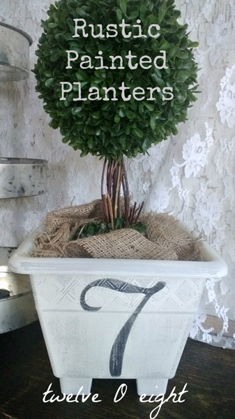 Rustic Painted Planters