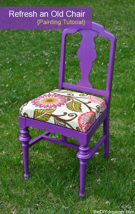 How To Paint A Chair   TheDIYdreamer.com