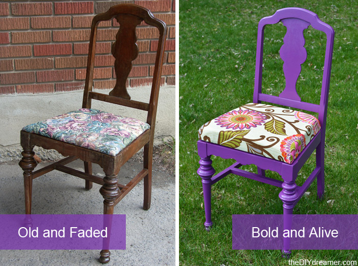 How to paint and reupholster a chair!