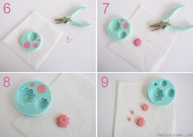 Tutorial: How to insert rhinestones into clay