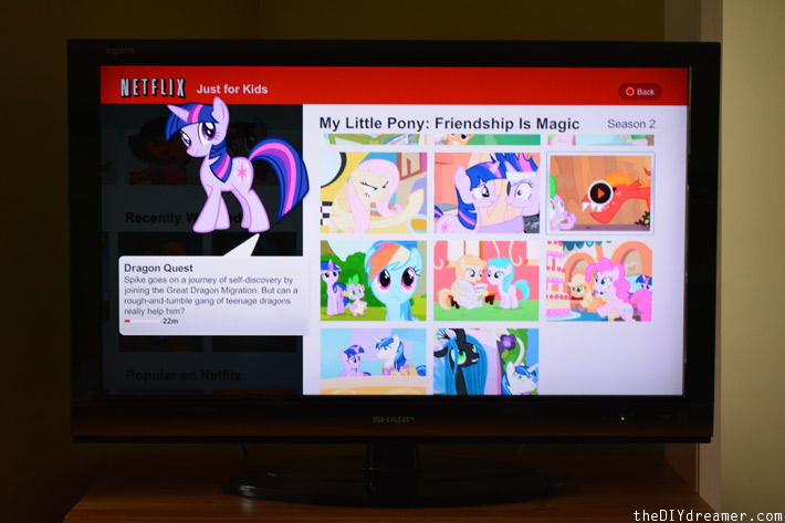 Family tv time with netflixkids the d i y dreamer for Little pony watches