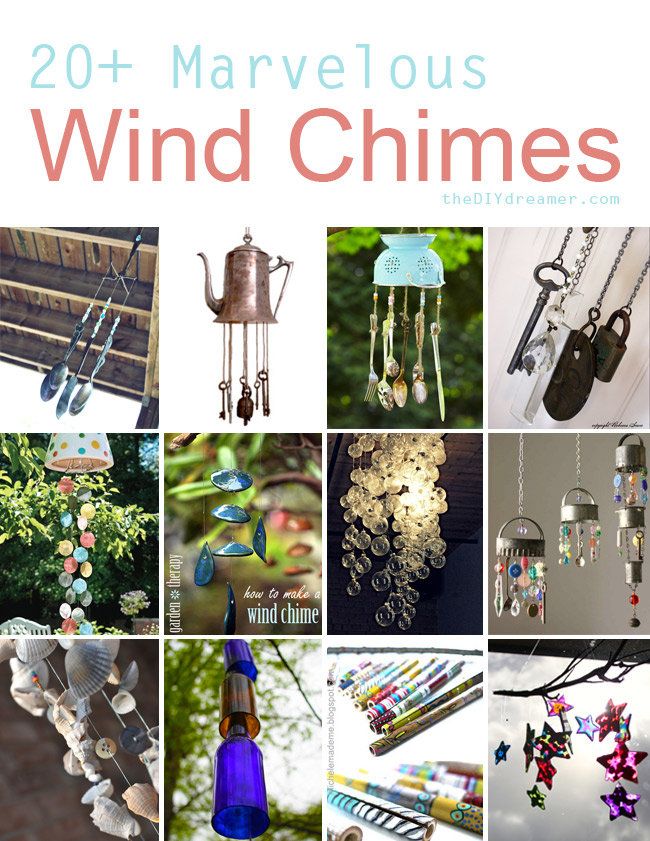 20 wind chimes tutorials the d i y dreamer for How to make a windchime out of silverware