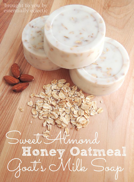 Sweet Almond Honey Oatmeal Goat's Milk Soap