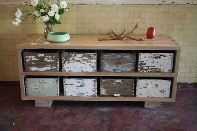 Upcycled Bee Box Sideboard