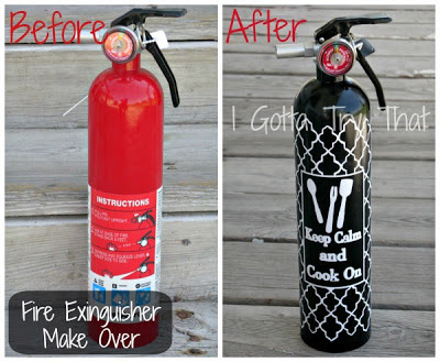 DIY Fire Extinguisher Makeover