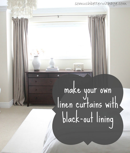 DIY Curtains With Blackout Lining
