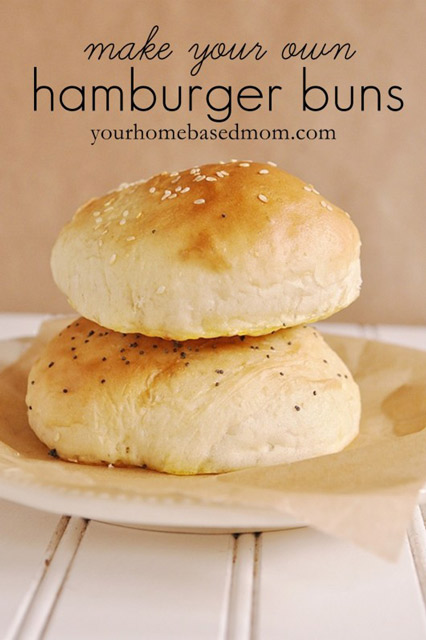Make your own hamburger buns