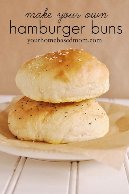 Make your own hamburger buns