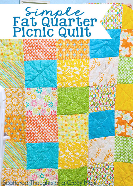 Make your own simple picnic quilt