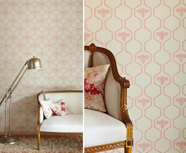 Pink Honey Bee Wallpaper