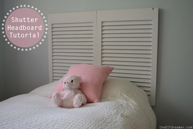 Shutter Headboard Tutorial